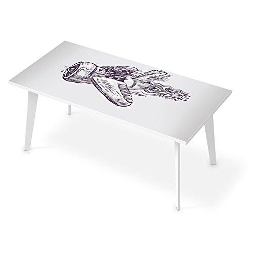 tischfolie f r tisch 180x90 cm dekor arbeitstisch aufkleber folie sticker selbstklebend. Black Bedroom Furniture Sets. Home Design Ideas