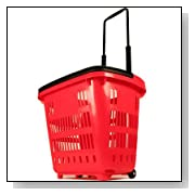 Rolling Shopping and Laundry Plastic Multipurpose Basket