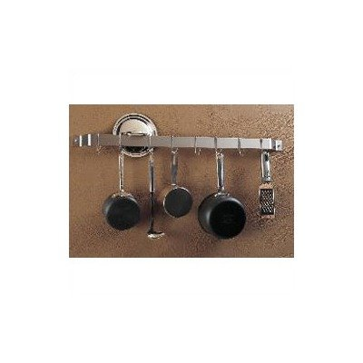 Cheap Rogar Wall Mount 36″ Bar-Style Pot Rack with 8 Hooks, Finish/Hook: Hammered Steel Bar/Chrome Hooks (B000VBTC5W)