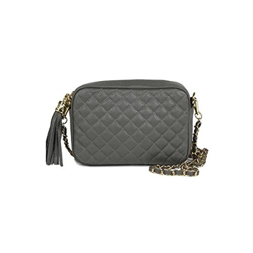 dearwyw-women-genuine-cow-leather-mini-waffle-quilted-square-cross-body-shoulder-bag-gray