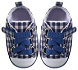 Luvable Friends Plaid Sneaker for Baby, Blue
