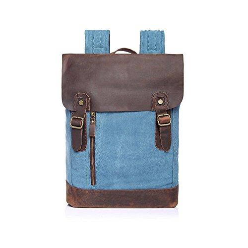 sechunk-multifunction-cotton-canvas-leather-backpack