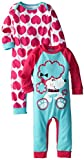 Gerber Baby-Girls Newborn Two-Pack Long-Sleeve Coveralls