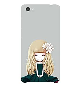 ifasho Girl with Flower in Hair Back Case Cover for VIVO X5Pro
