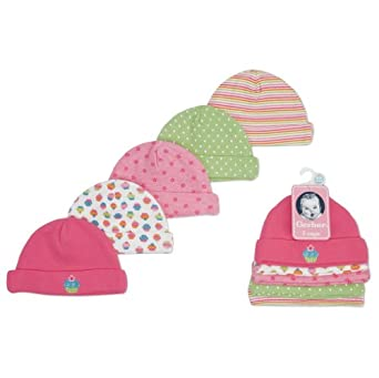 Gerber Baby-Girls 5 Pack Variety Caps