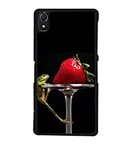 Strawberry and Frog Back Case Cover for SONY XPERIA Z3