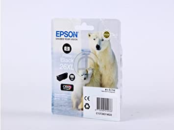 Epson Expression Premium XP-510 (26XL / C 13 T 26314020) - original - Ink cartridge bright black - 400 Pages - 8,7ml