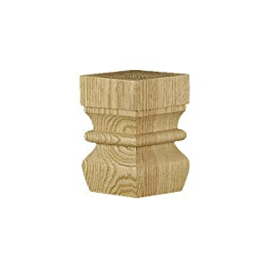Brown Wood Inc. 01703510AL1 Arts and Crafts Kensington Angular Bun Foot, Alder at Sears.com