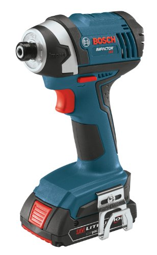 bosch 18 volt lithium ion 2 tool combo kit with compact tough drill driver and impact driver. Black Bedroom Furniture Sets. Home Design Ideas
