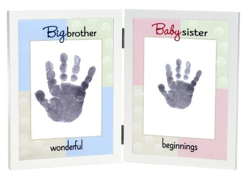 The Grandparent Gift Co. Sweet Somethings Handprint Frame, Big Brother/Baby Sister (Discontinued by Manufacturer)