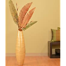 32 in.Tall Teardrop Bamboo Vase - Natural Finish- Super sale!