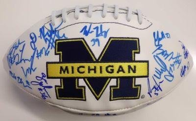 Michigan Wolverines Team Signed Fs Football Robinson