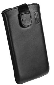 mumbi ECHT Ledertasche LG P760 Optimus L9 Tasche (Lasche mit Rückzugfunktion) schwarz