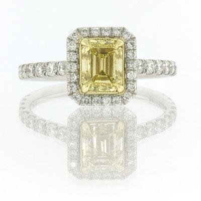 1.95ct Fancy Intense Yellow Emerald Cut Diamond 