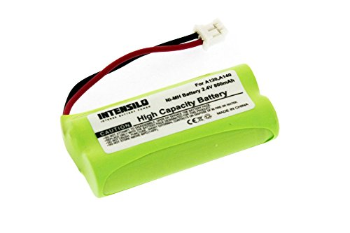 INTENSILO NiMH Batteria 800mAh (2.4V) per Telefono Fisso Cordless Siemens Gigaset A140 weib, A145, A16 sostituisce V30145-K1310-X359.