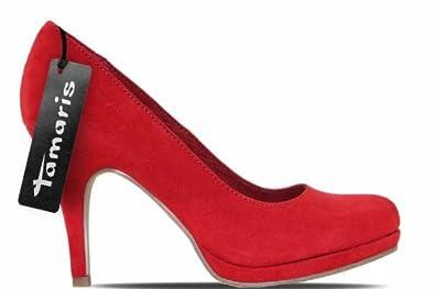 tamaris schuhe plateau pumps high heels stiletto rot 1. Black Bedroom Furniture Sets. Home Design Ideas