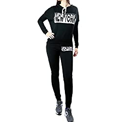 Womens Active Fashion Jersey Hoodie & Pant Sets Sweatsuit