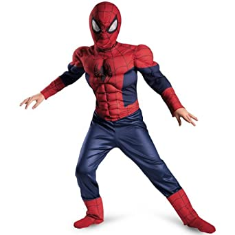 Ultimate Spider-Man Classic Muscle Costume, Red