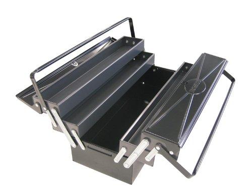 Ironside - Valigetta per attrezzi, a 5 scomparti, in metallo, dimensioni: 540 x 200 x 200 mm