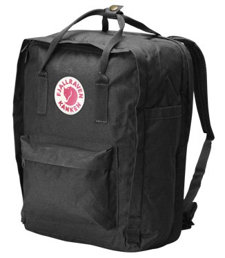 B002PHYFPW Fjallraven Kanken Backpack, Black, 17-Liter