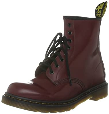 Dr Martens Broken In 1460, Boots mixte adulte - Rouge(Bordeaux) (Smooth), 35.5 EU (3 UK)