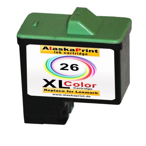 Sparangebot 1x Druckerpatrone Tintenpatrone Ersatz für Lexmark 26 XL ( 1x Color ) Ink Cartridge Original Julyanaserie