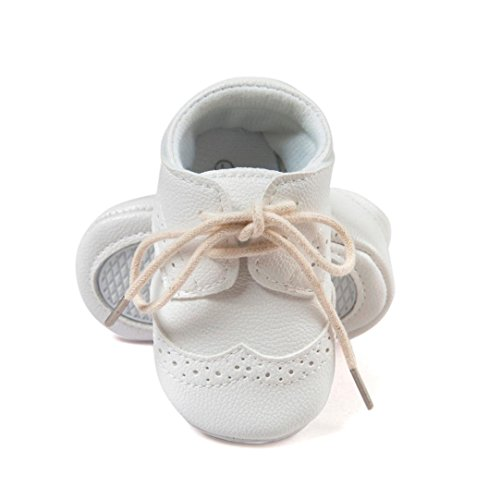 Ecosin-Baby-Lightweight-Soft-Sole-Leather-Shoes-Anti-slip-Crib-Shoes-Latchet-12-18M-White