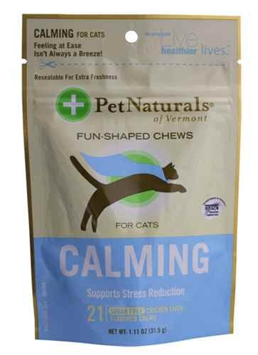 Pet Naturals of Vermont Calming For Cats - Chicken Liver 21 Soft Chews