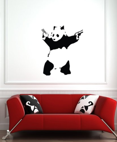 The Shooting Panda - Wall Vinyl Decal