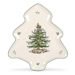 #!Cheap Spode Christmas Tree Platter
