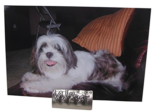 Woof Frameless Dog Tabletop Photo Holder