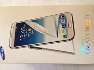 Samsung Galaxy Note II 2 T889 White T-Mobile 4G Unlocked Cell Phone No Contract No Warranty - T-Mobile Logos [Carrier Retail Packaging]