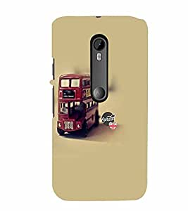 PrintVisa Travel Bus 3D Hard Polycarbonate Designer Back Case Cover for Motorola Moto G3