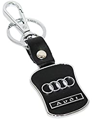 AURA Audi Cars Leather & Metal Imported Key Chain Keychain Keyring Key Ring Fob (KC78)
