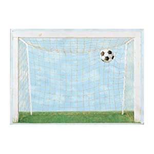 Soccer Goal Mural, Blue Background/Green