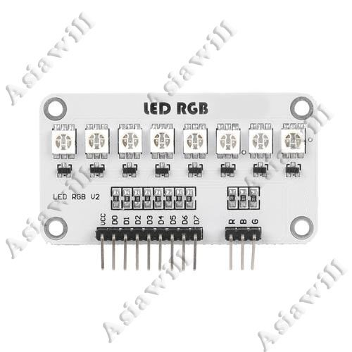 Electronic Diy Full Color Rgb 8-Smd 5050 Led Module For Arduino (Works With Official Arduino Boards)