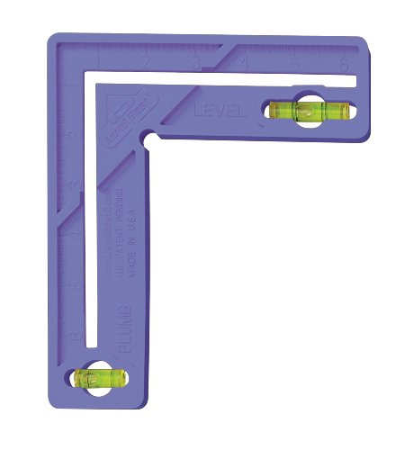 Level Best 189 6-Inch Home/Craft/School Square with Level, Violet