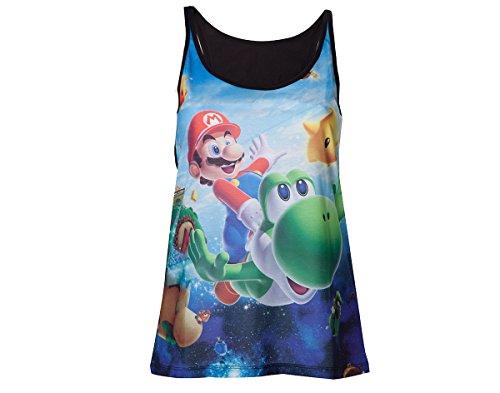 Nintendo Super Mario Galaxy 2 Top donna multicolore XL