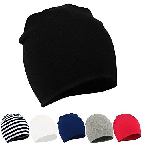 Zando per bambini Bambini Cute Lovely in morbido cotone lavorato a maglia berretti Cap B 6 Pack-Mix Color2 Etichettalia unica