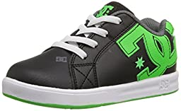 DC Court Graffik Elastic Skate Shoe (Toddler), Black/Green/White, 8 M US Toddler
