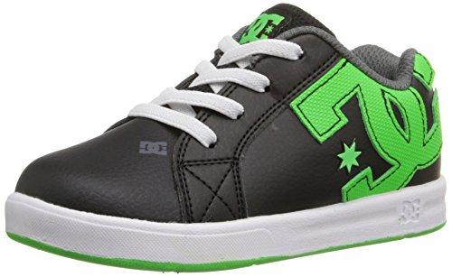DC Court Graffik Elastic Skate Shoe (Toddler), Black/Green/White, 9 M US Toddler