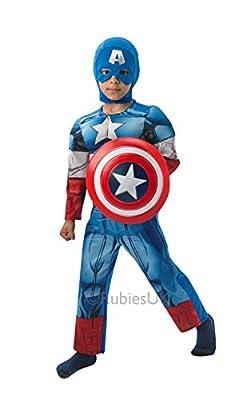 Captain America - Deluxe - Avengers Assemble - Childrens Fancy Dress Costume