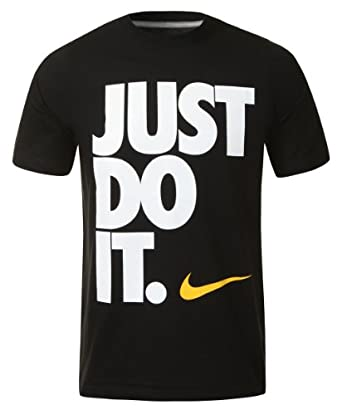 Nike Mens Just Do It Black T Shirt Size Xl