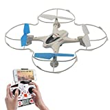 Potensic FPV RC Quadcopter With 0.3M Camera, 4CH 2.4G 6-Axis Gyro Ready To Fly, Headless Mode (White) FJ0140
