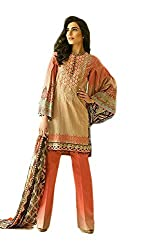 Pure Lawn suit with chiffon dupatta