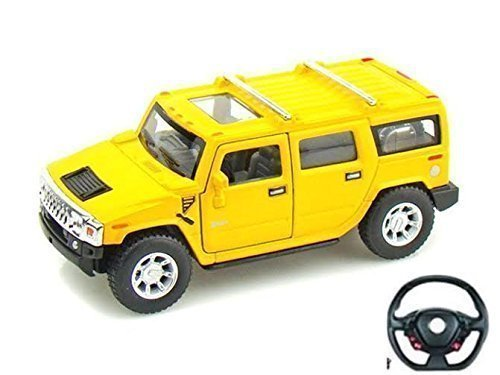 5010-2a-yellow-hummer-style-model-car-with-steering-wheel-remote-control-116-battery-operated