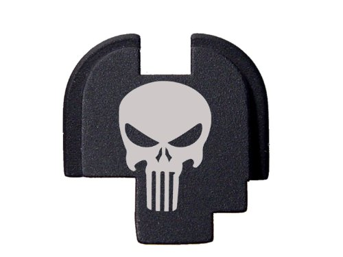 Fixxxer Rear Cover Plate fits Springfield XDs, Tactical Skull design (Springfield Rear Slide Plate compare prices)