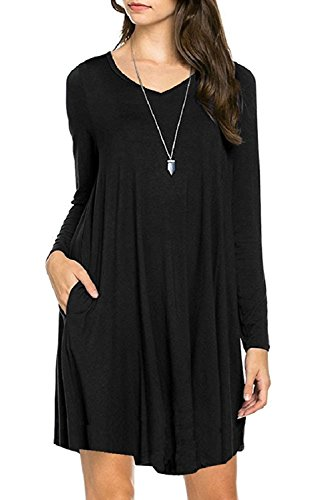 Buy Long Sleeve Pockets Dress Now!