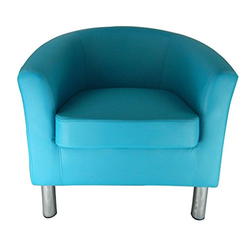 Wasserblau Sessel Clubsessel Loungesessel Chesterfield