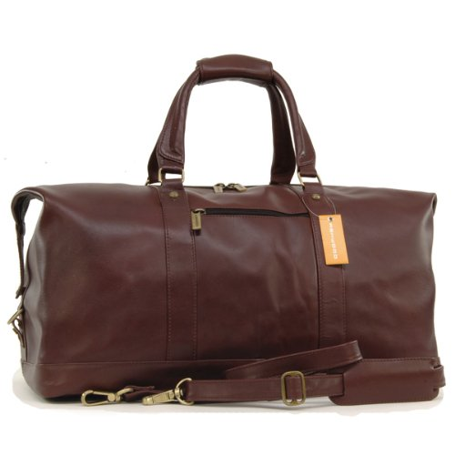 Ashwood Travel/Weekend Bag - Holdall - Cognac Brown Leather